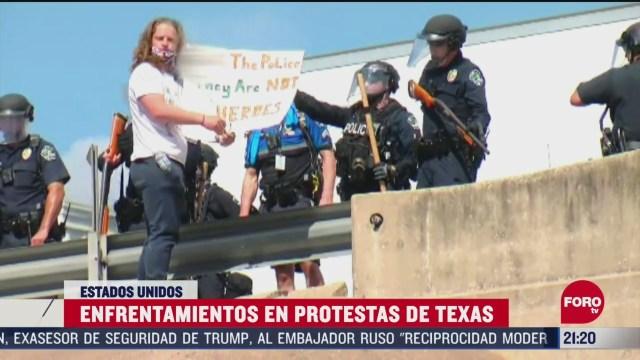FOTO: 30 de mayo 2020, cientos salen a las calles de texas para protestar por muerte de george floyd