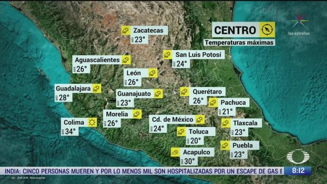 clima al aire frente frio 59 y canal de baja presion provocaran lluvias en mexico