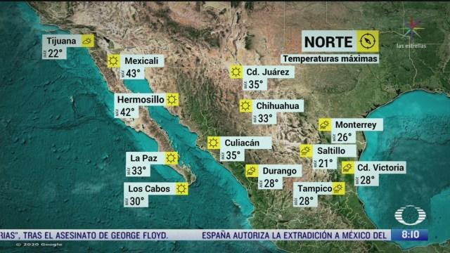 clima al aire frente frio 65 provocara lluvias en gran parte de mexico
