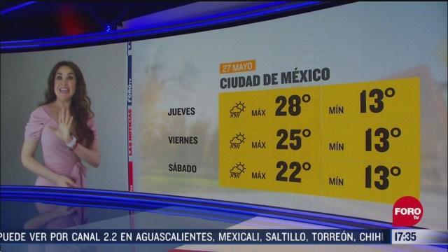 FOTO: clima de la tarde del 27 de mayo de 2020 con mayte carranco