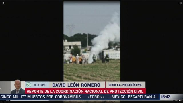 FOTO: controlan fuga de gas en puebla informo david leon romero