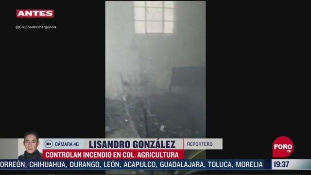 FOTO: 24 de mayo 2020, controlan incendio en colonia agricultura en miguel hidalgo cdmx