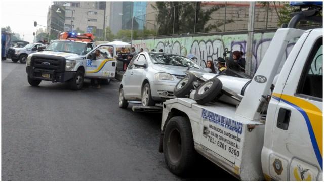 Imagen: Trasladan al corralón a más de 1,600 vehículos por no respetar el Hoy No Circula, 24 de mayo de 2020 (ARMANDO MONROY /CUARTOSCURO.COM)