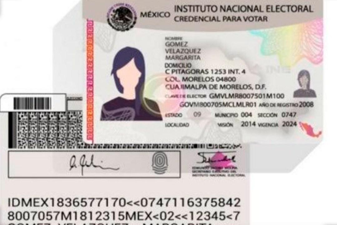 INE Credencial Constancia Digital Identificación Foto Mayo 2020