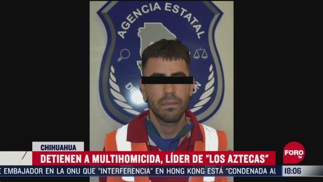 FOTO: detienen a presunto multihomicida en chihuahua