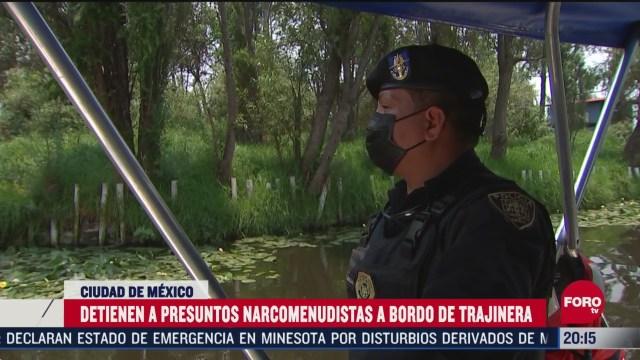 detienen a presuntos narcomenudistas en trajineras de xochimilco