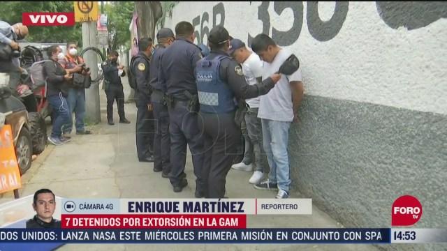 FOTO: detienen a siete presuntos extorsionadores en cdmx