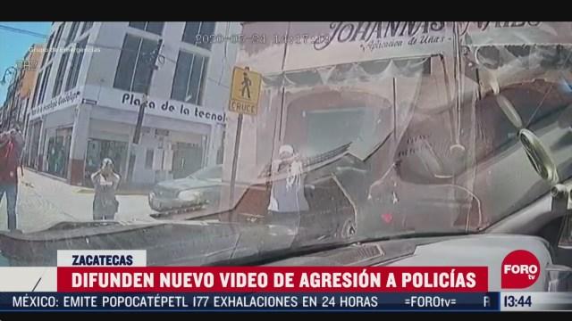 FOTO: difunden nuevo video del ataque a policias de guadalupe en zacatecas