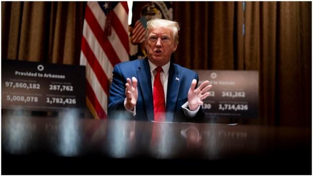 Imagen: Donald Trump dio a conocer que asistirá al lanzamiento de SpaceX, 23 de mayo de 2020 (Getty Images)