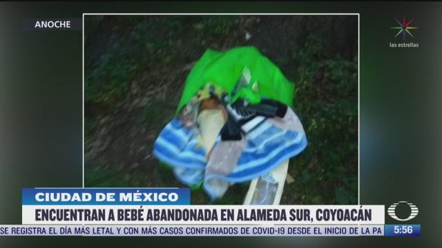 encuentran a bebe abandonada en alameda sur coyoacan en cdmx