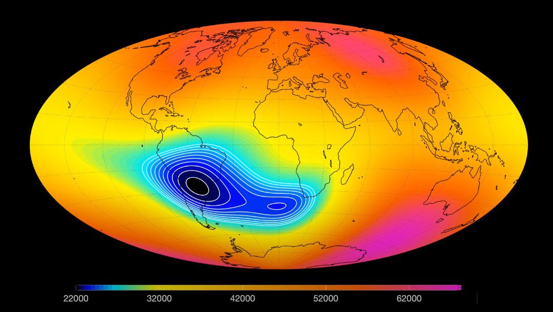 mapa-mundo-naranja-mostrando-mancha-azul-en-sudamerica