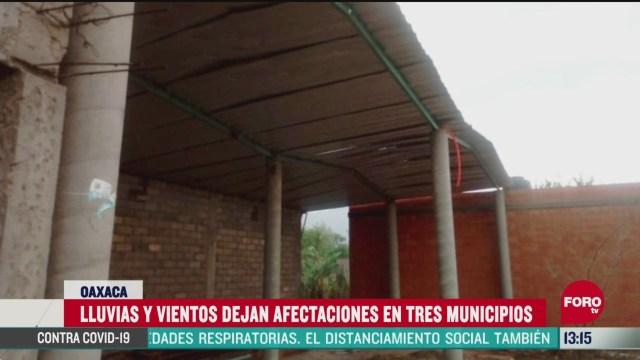 FOTO: 24 de mayo 2020, fuertes lluvias causan danos en tres municipios de oaxaca