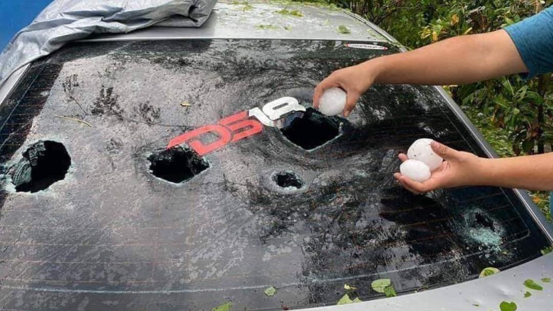 Fotos: Bolas de granizo gigante caen en Ciudad Valles, SLP