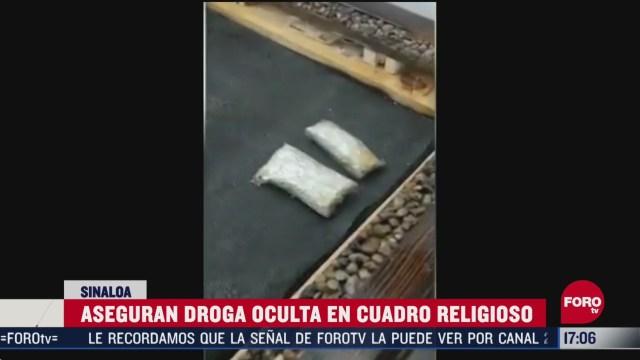 halla guardia nacional droga escondida en cuadro con imagen religiosa