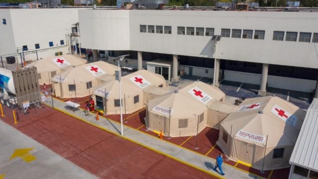 Cruz Roja instala hospital provisional en el INER para pacientes con COVID-19