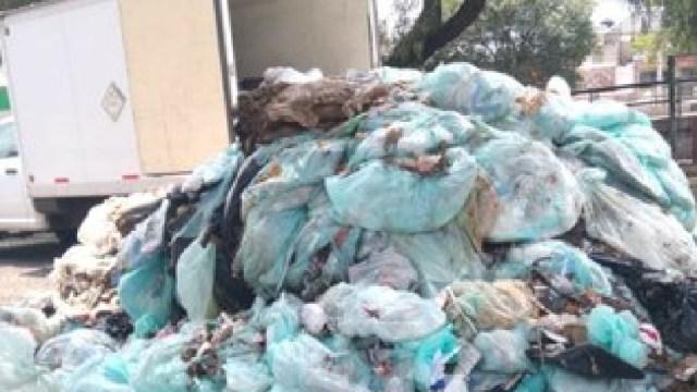 Foto: Abandonan residuos biológicos peligrosos en Tlalnepantla, 9 de mayo de 2020, (Silvia Chávez González)