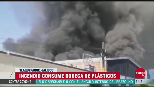FOTO: 23 de mayo 2020, incendio consume bodega de plastico en tlaquepaque jalisco