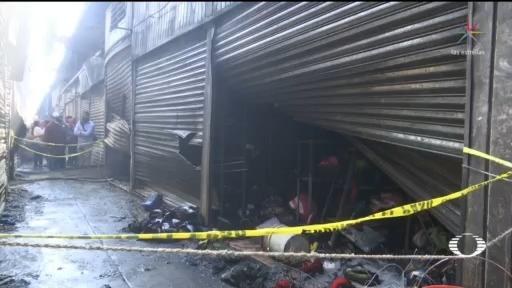 investigan incendio en la central de abasto de oaxaca