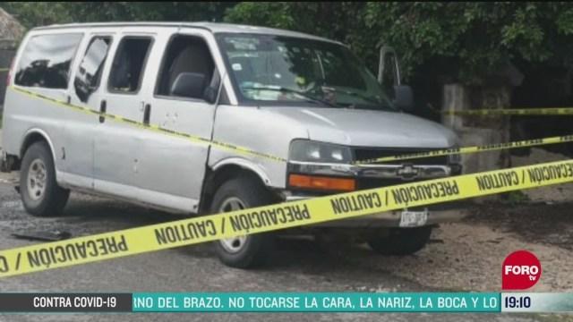 FOTO: 31 de mayo 2020, investigan multihomicidio en bacalar