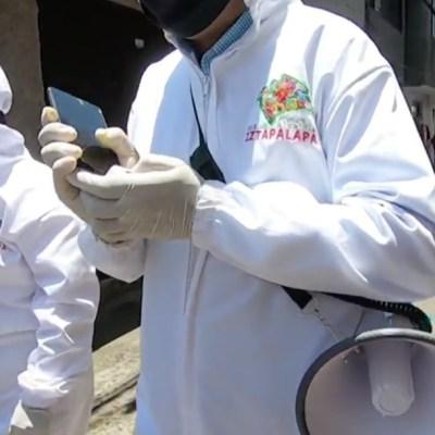 Sanitizan zonas de alto riesgo por coronavirus en Iztapalapa