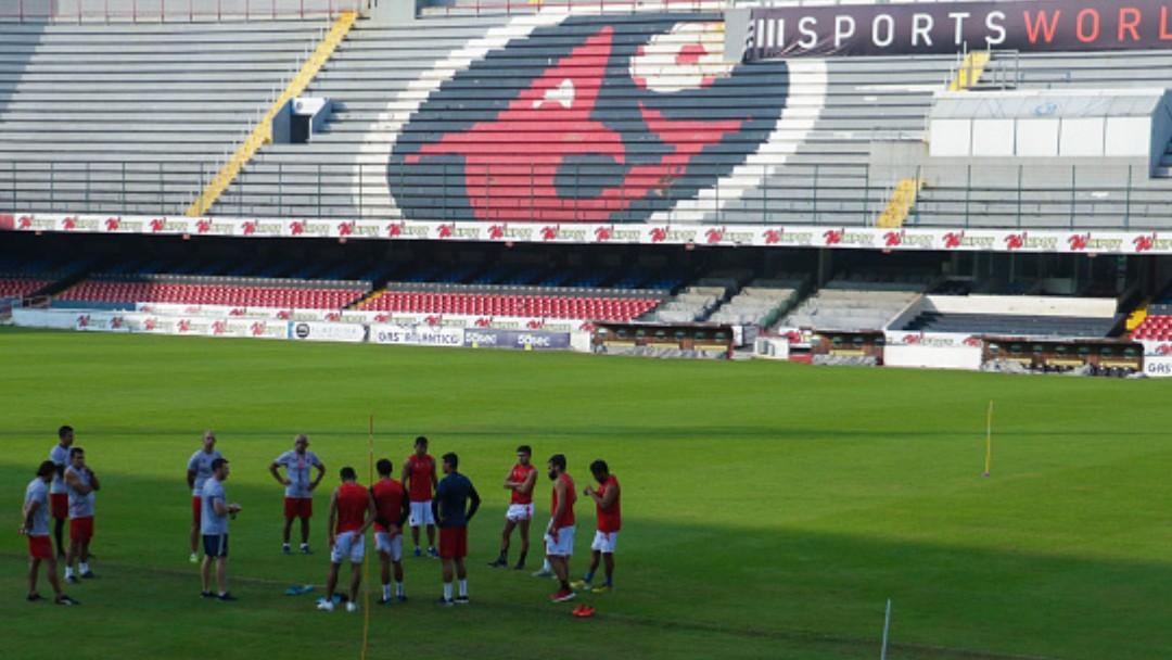 """Jugadores del Veracruz entrenan en el estadio Luis """"Pirata"""" de la Fuente. Getty Images/Archivo"""