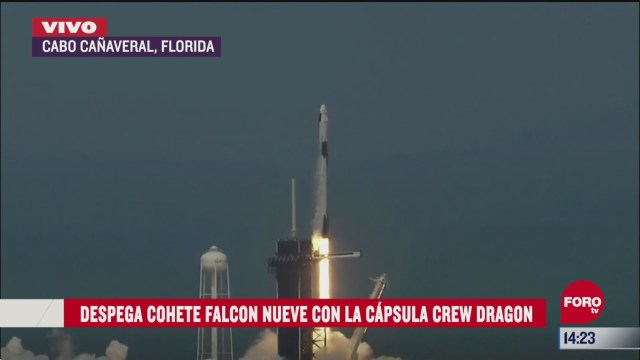 FOTO: 30 de mayo 2020, lanzamiento de spacex en cabo canaveral