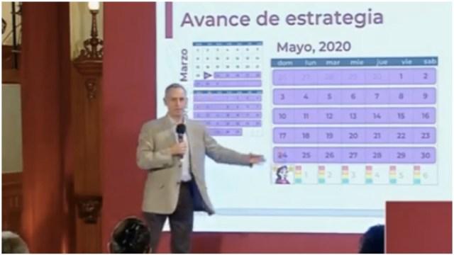 Foto: Hugo López-Gatell enfatizó que México no volverá a la normalidad el 1 de junio, 31 de mayo de 2020 (Ssa)