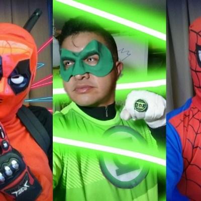 Maestro se disfraza de superhéroe para dar clases durante cuarentena
