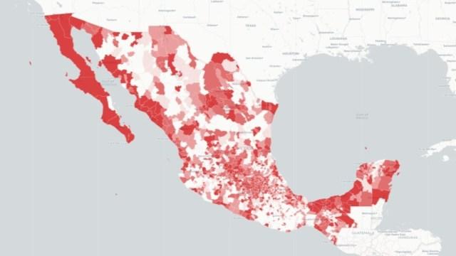 Mapa casos de Coronavirus en México. Ssa