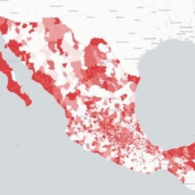 Mapa de coronavirus en México. Ssa