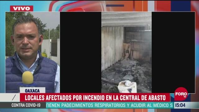 FOTO: mas de 250 puestos resultan afectados por incendio en central de abasto de oaxaca