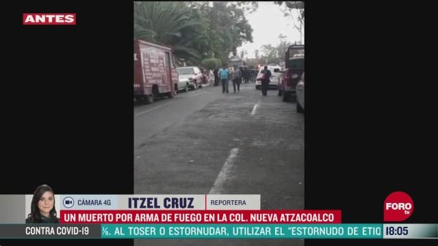 FOTO: matan a un hombre a balazos en calles de la cdmx
