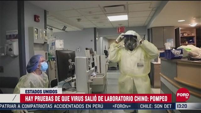 FOTO: 3 de mayo 2020, mike pompeo asegura que estados unidos tiene pruebas que el coronavirus salio de un laboratorio chino