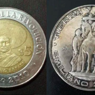 ¿Tienes monedas antiguas de Emiliano Zapata? Ahora valen miles de pesos