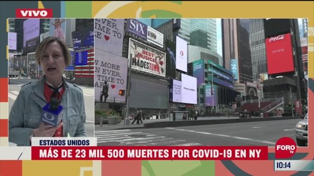 nueva york registra una baja en caso por coronavirus