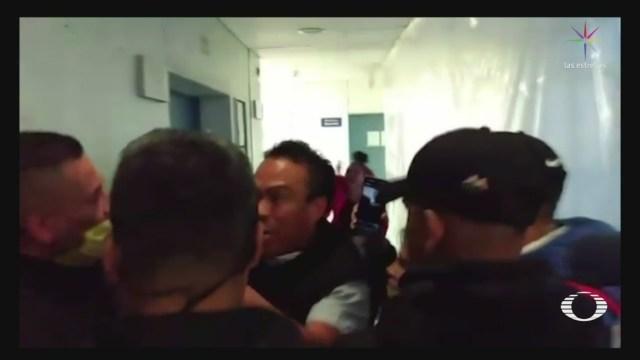 FOTO: 1 de mayo 2020, personas ingresan a la fuerza al hospital general las americas de ecatepec