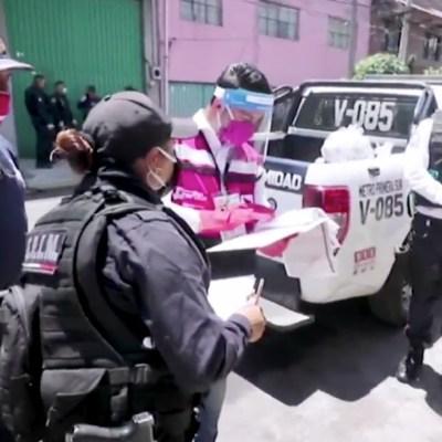 Policía de Nezahualcóyotl realiza censo para identificar a los más necesitados en medio de la contingencia