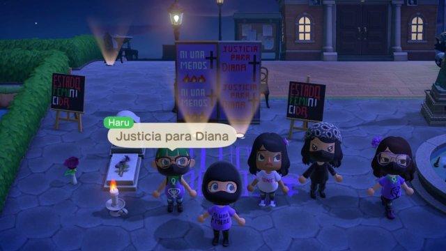 Protesta Feminicidios Animal Crossing Videojuego Mayo 2020