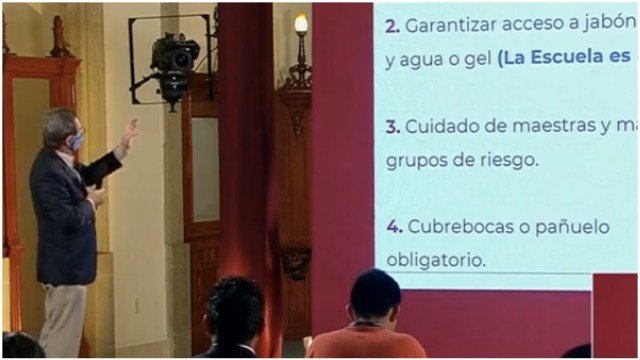 Foto: Estaben Moctezuma presentó los nueve puntos para el regreso a clases, 30 de mayo de 2020 (SSA)
