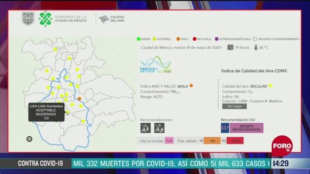 FOTO: reportan entre regular y mala la calidad del aire en valle de mexico