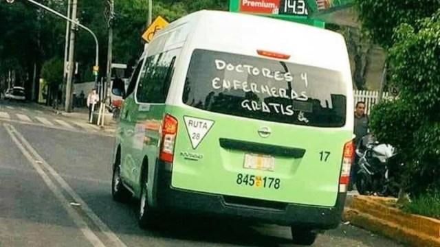 Ruta 28 de la CDMX ofrece transporte gratuito a médicos