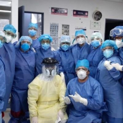 Sacerdotes visitan a pacientes con coronavirus en Hospital General
