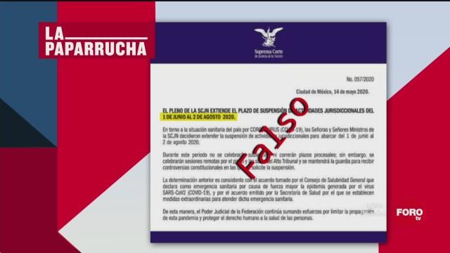 Foto: SCJN extiende suspensión de actividades, la paparrucha del día 18 Mayo 2020