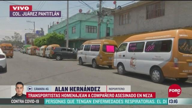 FOTO: 23 de mayo 2020, se alista cortejo funebre por medio de transportistas en nezahualcoyotl