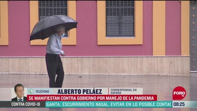 FOTO: 23 de mayo 2020,se manifiestan en espana contra el gobierno por el manejo de la pandemia