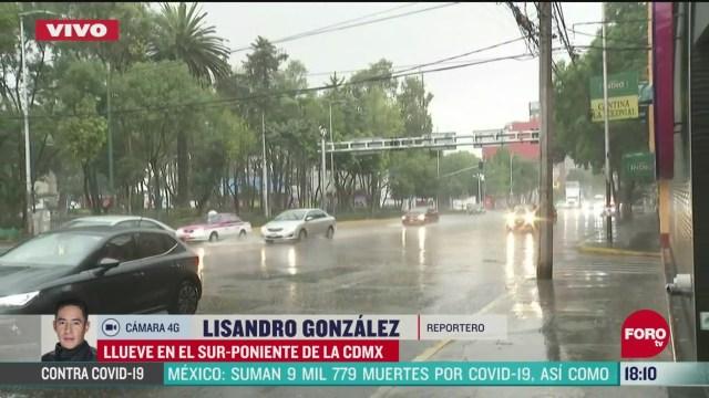 FOTO: 31 de mayo 2020,se registran lluvias en el sur poniente de la ciudad de mexico
