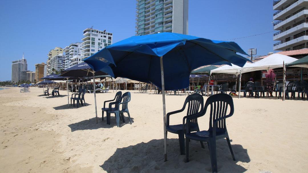 Fotografía que muestra el cierre de playas en México. (Foto: Cuartooscuro)
