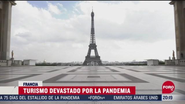 turismo devastado por el coronavirus en francia