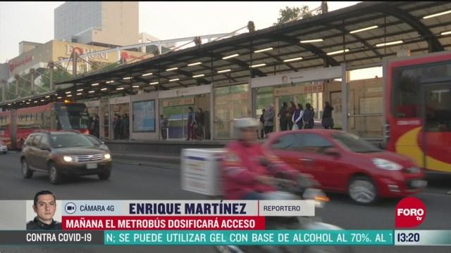FOTO: 24 de mayo 2020, usuarios del metrobus ingresaran por bloques a partir del lunes 25 de mayo