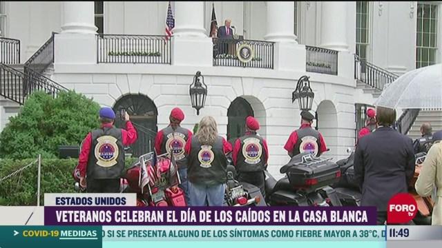veteranos de guerra conmemoran el dia de los caidos